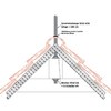 Roof mounting ridge beam Version 1