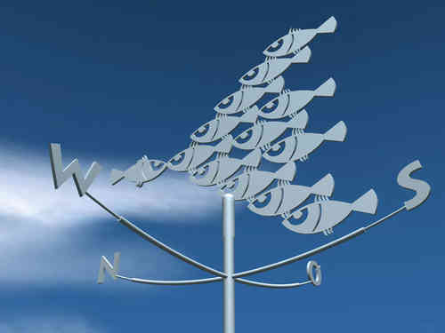 Shoal of fish weathervane